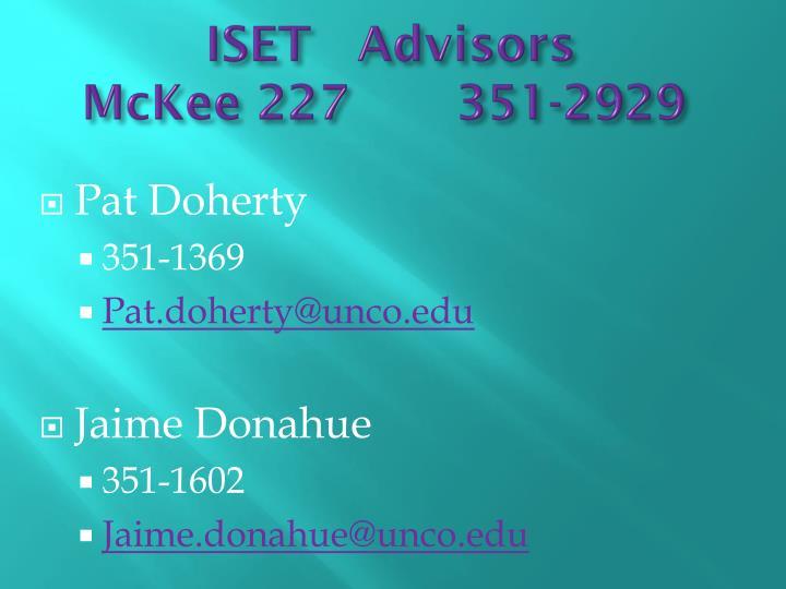 ISET   Advisors
