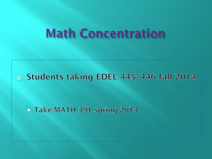 Math Concentration