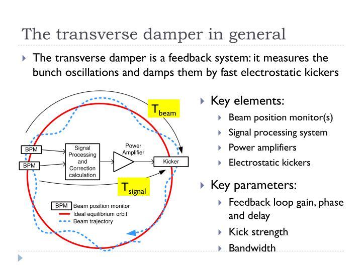 The transverse damper in general