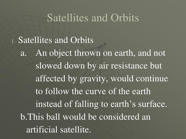 Ppt Artificial Satellites Powerpoint Presentation Id