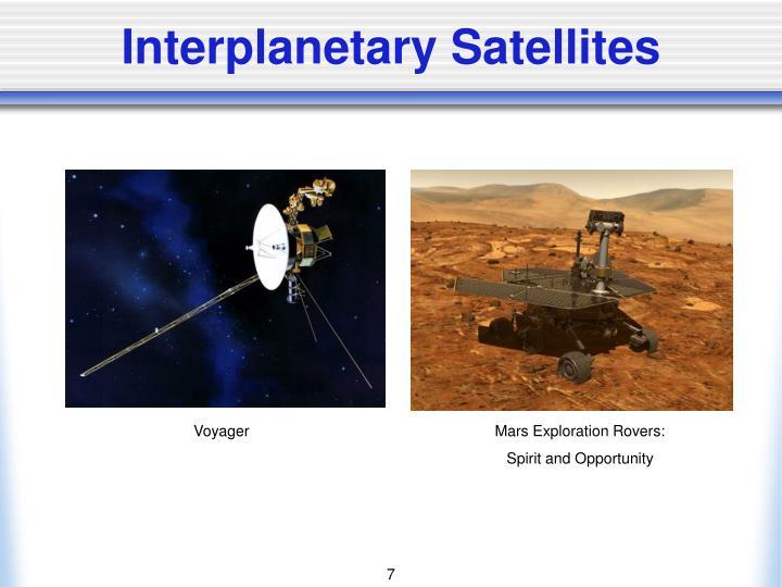 Interplanetary Satellites