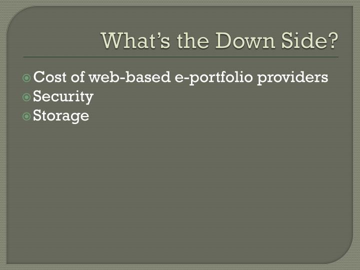 What's the Down Side?