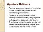 apostolic believers15
