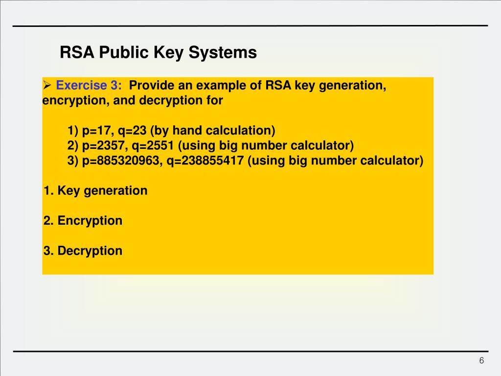 PPT - Lect  13 : Public Key Encryption RSA ElGamal PowerPoint