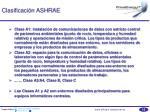clasificaci n ashrae