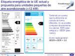 etiqueta energ tica de la ue actual y propuesta para unidades peque as de aire acondicionado 12 kw