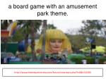 a board game with an amusement park theme