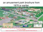an amusement park brochure from 1970 or earlier