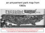 an amusement park map from 1960s