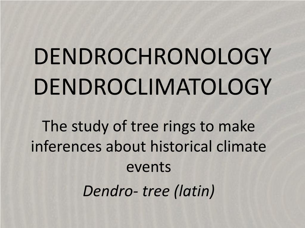 Relative dating dendrochronology core