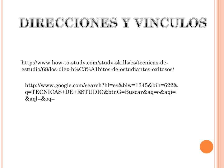 DIRECCIONES Y VINCULOS