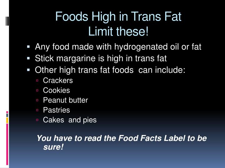 Foods High in Trans Fat