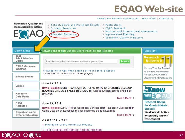 EQAO Web-site