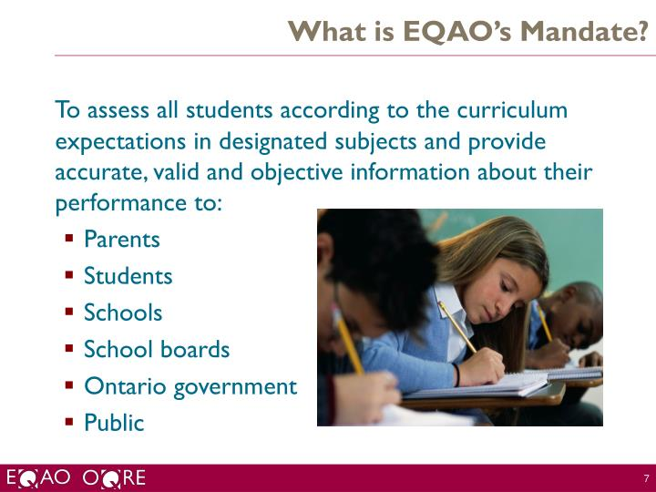 What is EQAO's Mandate?