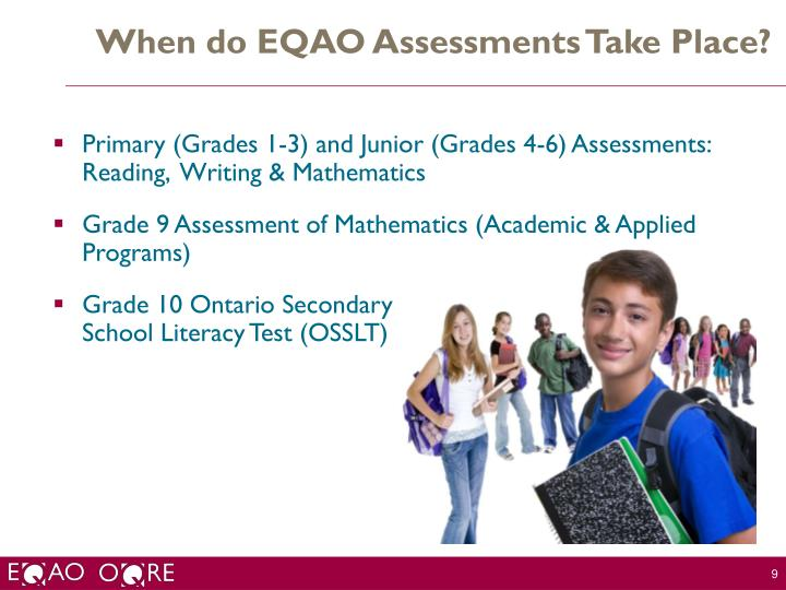 When do EQAO Assessments Take Place?