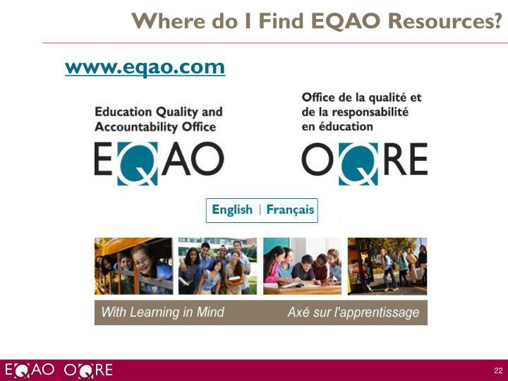 Where do I Find EQAO Resources?