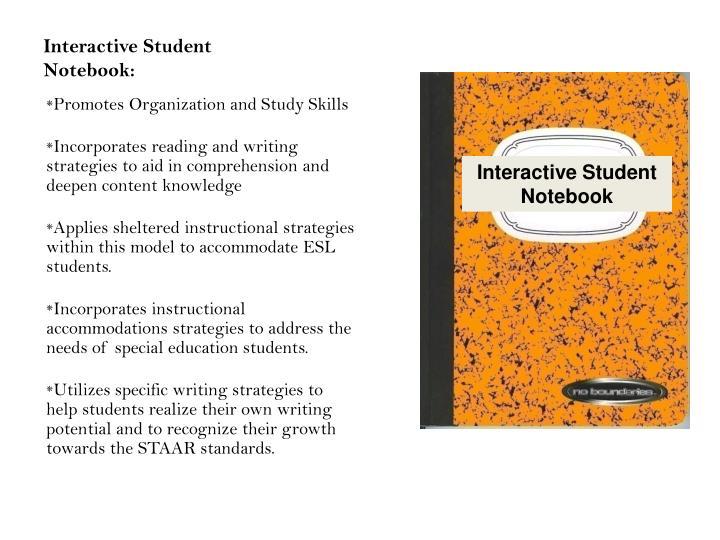 Interactive Student Notebook: