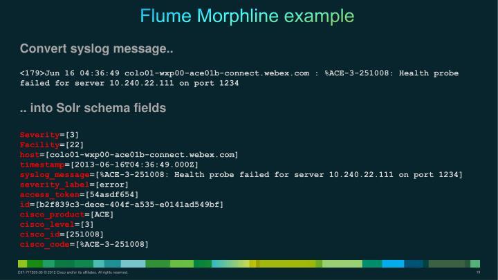 Flume Morphline example