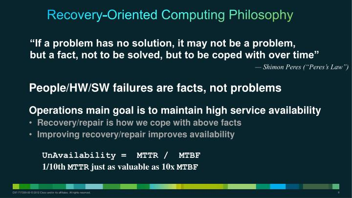Recovery-Oriented Computing Philosophy