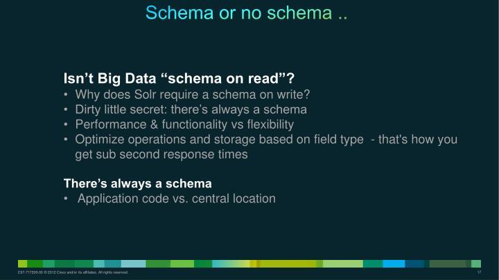 Schema or no schema ..