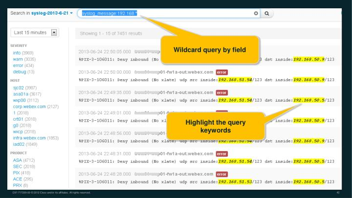 Wildcard query by field