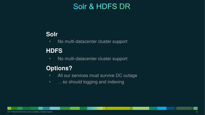 Solr & HDFS DR