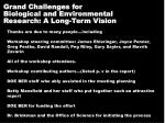 grand challenges for biological and environmental research a long term vision1