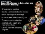 grand challenges in education and workforce training