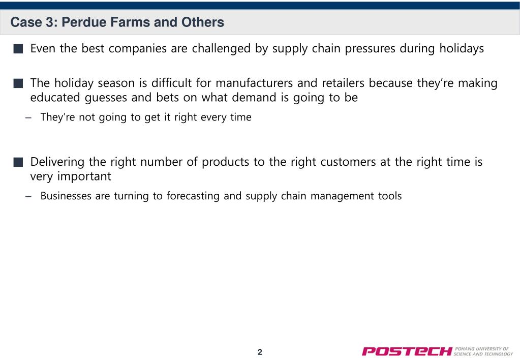 PPT - Perdue Farms and Others: Supply Chain Management Meets