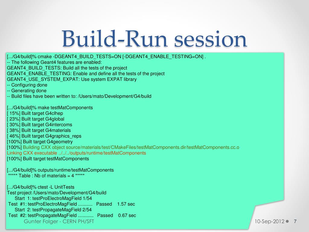 PPT - Unit tests, Integration tests Physics tests PowerPoint