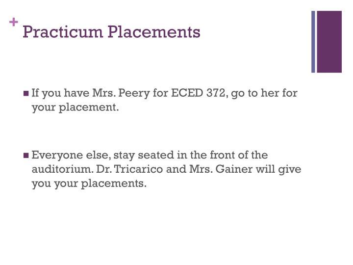 Practicum Placements