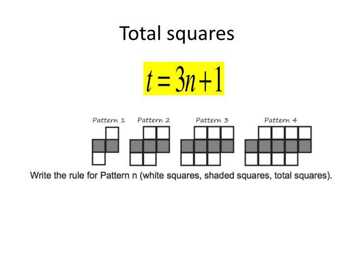 Total squares