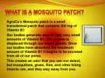 what is a mosquito patch