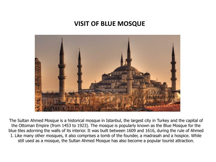VISIT OF BLUE MOSQUE