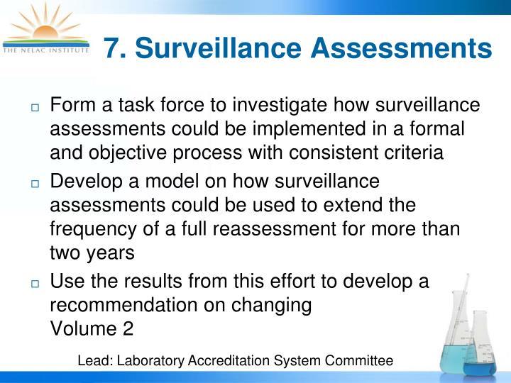7. Surveillance Assessments