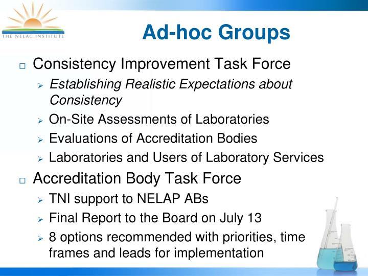 Ad-hoc Groups
