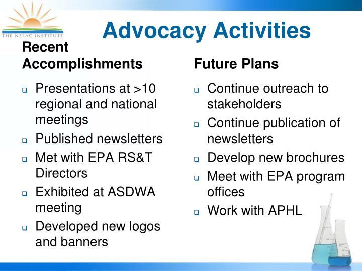Advocacy Activities