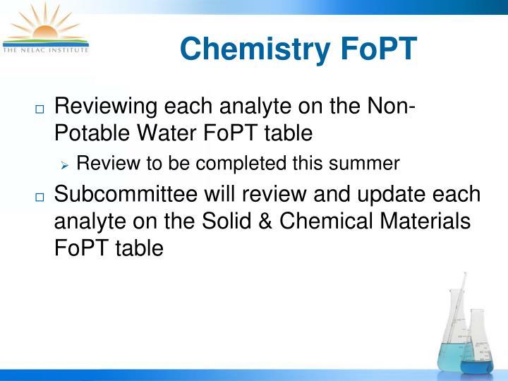 Chemistry FoPT