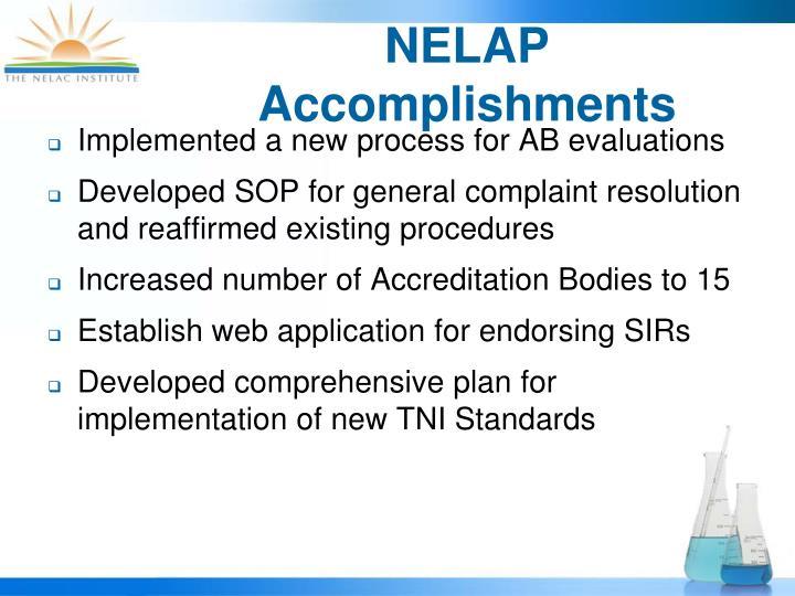 NELAP Accomplishments