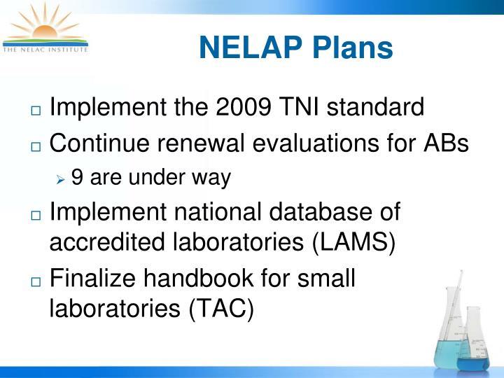 NELAP Plans