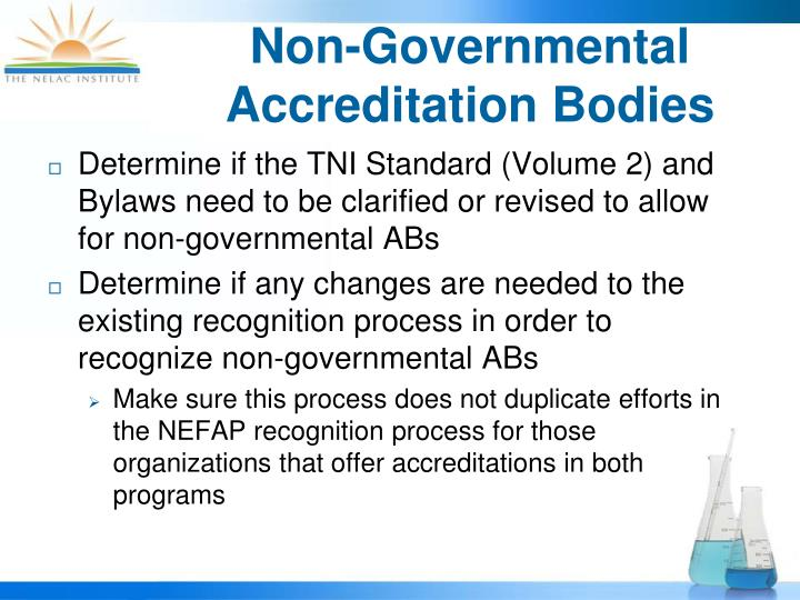Non-Governmental Accreditation Bodies