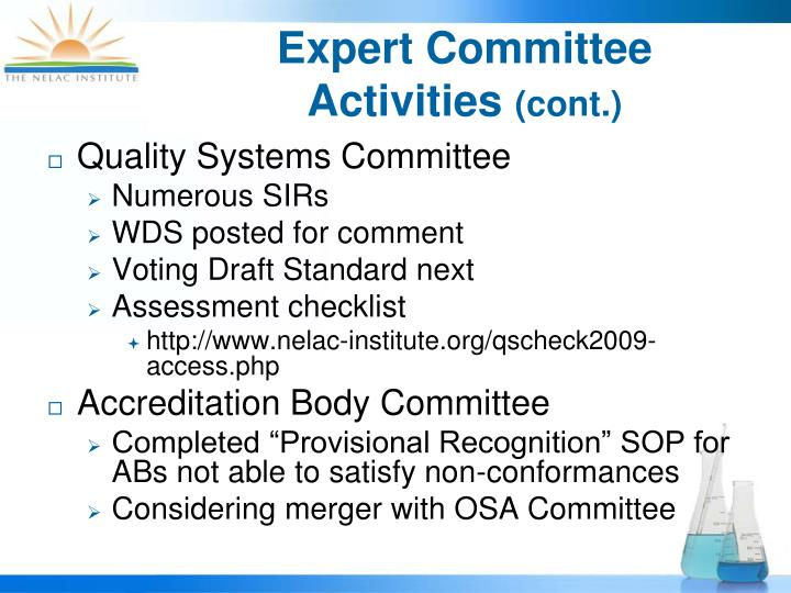 Quality Systems Committee