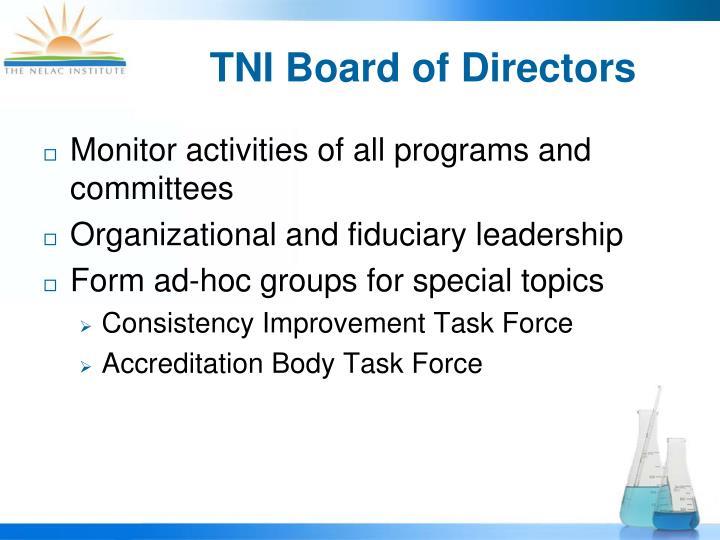 TNI Board of Directors