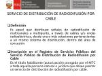 servicio de distribuci n de radiodifusi n por cable