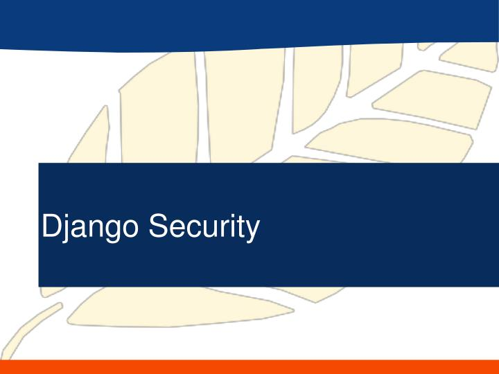 Django Security