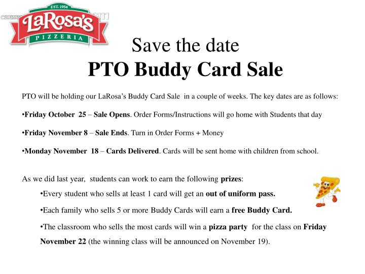 ppt save the date pto buddy card sale powerpoint presentation id