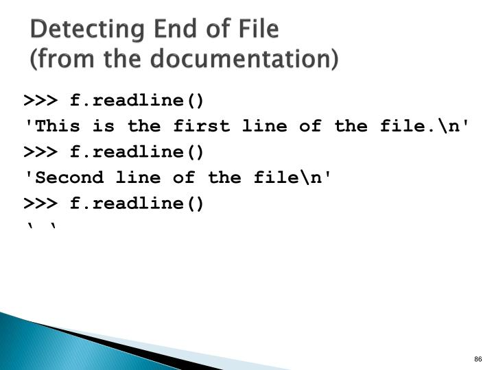 Detecting End of File