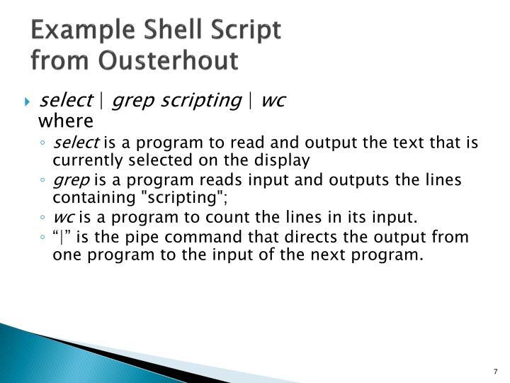 Example Shell Script