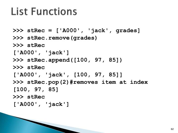 List Functions