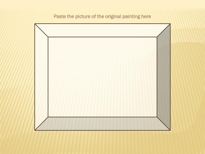 Paste the picture of the original painting here